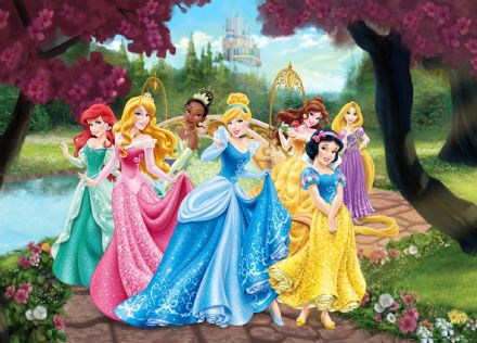 Disney Princesses mural wallpaper 160x110cm